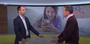 """Interview mit neon-Geschäftsführer Benjamin Grünbichler in der Abendschau des Bayerischen Rundfunks zum Thema """"Handy unterm Christbaum?"""""""